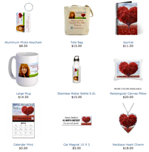 Gifts Available at www.cafepress.com/hearttoheartwithanna