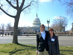 Joseph and Anna Jaworski in Washington, D.C. during Advocacy Day sponsored by the Adult Congenital Heart Association in 2013.