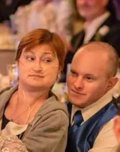 Meg & Ed Sitting at Wedding 8.2.14